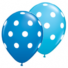 Polka Dot Balloons (Mixed Blues) - 11 Inch Balloons 25pcs